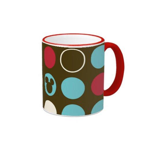 Mickey Retro Polka Dot Pattern Ringer Coffee Mug