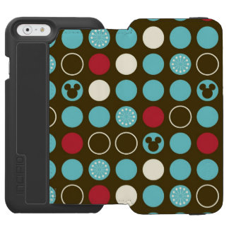 Mickey Retro Polka Dot Pern Incipio Watson™ iPhone 6 Wallet Case