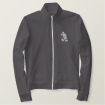 Mickey Silhouette - Silver Embroidered Jacket