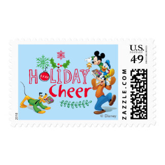 Mickey Spreading Holiday Cheer Postage