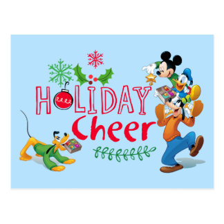 Mickey Spreading Holiday Cheer Postcard