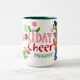 Mickey Spreading Holiday Cheer Two-Tone Coffee Mug