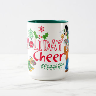 Mickey Spreading Holiday Cheer Two-Tone Coffee Mug