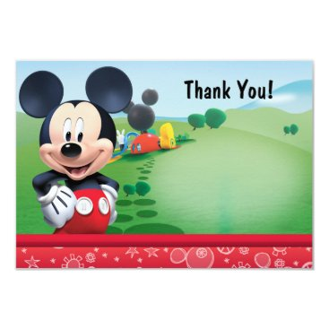 disney Mickey Thank You Cards