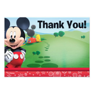 Mickey Thank You Cards Invitations