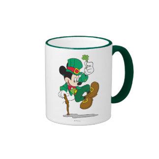 Mickey the Leprechaun Ringer Coffee Mug