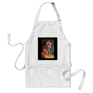 Mickey the maggot plays the bagpipes apron
