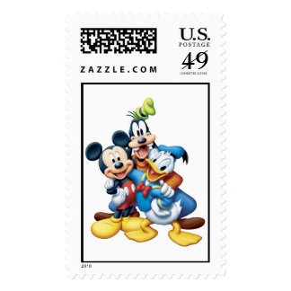 Mickey, torpe, y Donald Timbre Postal