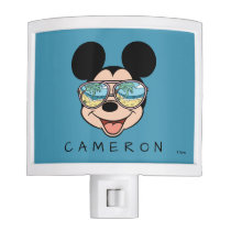 Mickey | Tropical Sunglasses - Add Your Name Night Light
