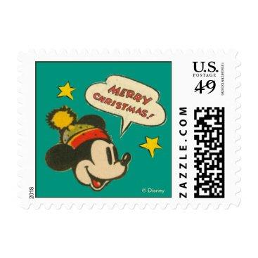 Disney Themed Mickey | Vintage Merry Christmas Postage