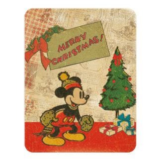 Mickey | Vintage Merry Christmas with Photo Card