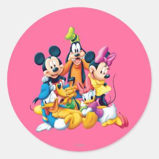 Mickey y amigos el   cinco fabulosos pegatina redonda