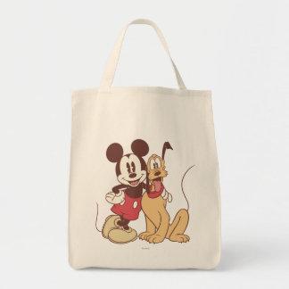 Mickey y amigos el | Mickey y Plutón clásicos Bolsa Tela Para La Compra