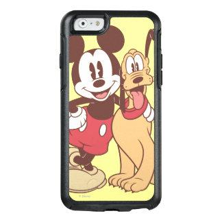 Mickey y amigos el   Mickey y Plutón clásicos Funda Otterbox Para iPhone 6/6s