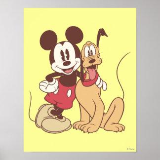 Mickey y amigos el | Mickey y Plutón clásicos Póster