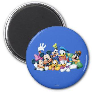 Mickey y amigos el | que se arrodilla imán redondo 5 cm