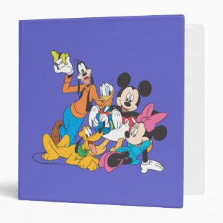 """Mickey y amigos el   que se inclina carpeta 1 1/2"""""""