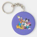 Mickey y amigos el | que se inclina llavero redondo tipo pin