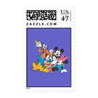 Mickey y amigos el   que se inclina sellos postales