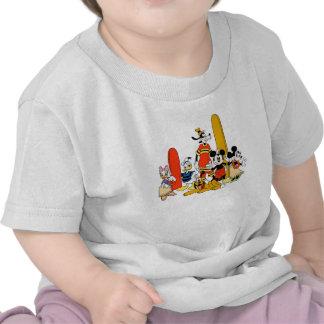 Mickey y amigos en la playa camisetas