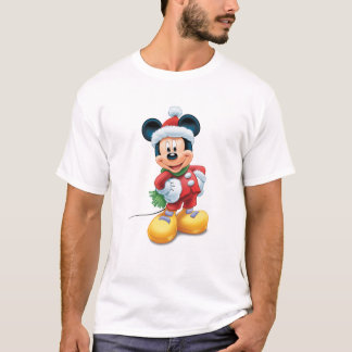 Mickey y amigos Mickey en el gorra de Santa Playera