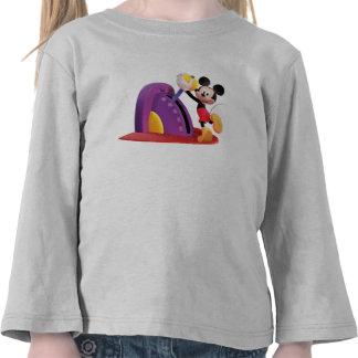 Mickey y amigos Mickey que tira de la palanca Camisetas