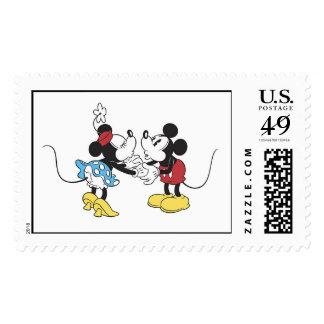 Mickey y amigos Mickey y el besarse de Minnie Timbre Postal