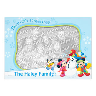 Mickey y amigos Tarjeta de felicitaciones de la e