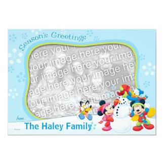 """Mickey y amigos: Tarjeta de felicitaciones de la Invitación 5"""" X 7"""""""