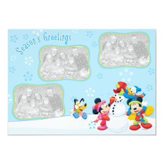 Mickey y amigos: Tarjeta de felicitaciones de la Comunicado