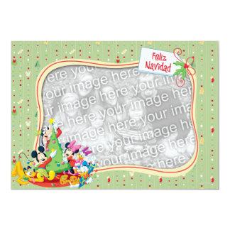 """Mickey y amigos: Tarjeta de Feliz Navidad Invitación 5"""" X 7"""""""
