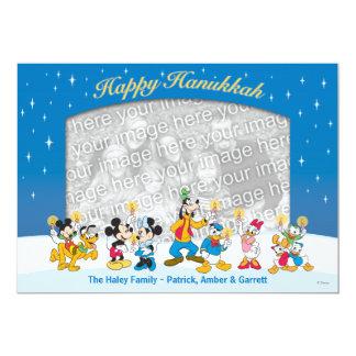"""Mickey y amigos: Tarjeta feliz de Jánuca Invitación 5"""" X 7"""""""