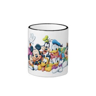 Mickey y amigos taza de dos colores