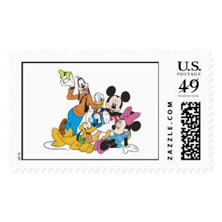 Mickey y amigos timbre postal