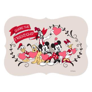 """Mickey y los amigos - comparta la amistad invitación 5"""" x 7"""""""
