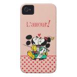 Mickey y Minnie 1 iPhone 4 Case-Mate Cárcasas