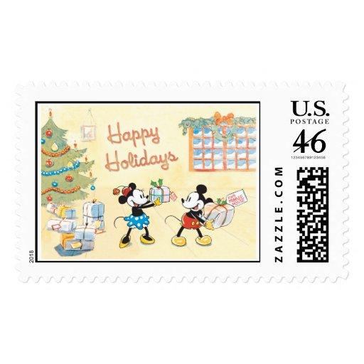 Mickey y Minnie buenas fiestas Franqueo