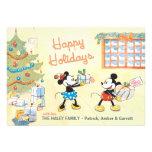Mickey y Minnie clásicos: Buenas fiestas tarjeta