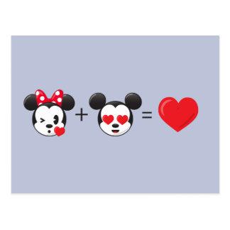 Mickey y Minnie el   en amor Tarjetas Postales