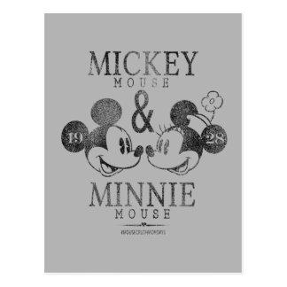 Mickey y Minnie el | Est. 1928 Tarjetas Postales