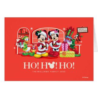 Mickey y Minnie el | Ho Ho Ho Tarjeta De Felicitación