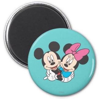 Mickey y Minnie el | que abraza Imán Redondo 5 Cm