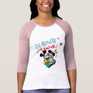 Mickey y Minnie - en el camino Camisetas