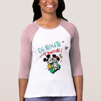Mickey y Minnie - en el camino T-shirt