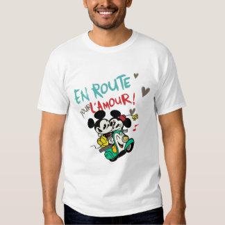 Mickey y Minnie - en el camino Poleras