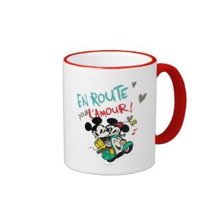 Mickey y Minnie en el camino Taza A Dos Colores