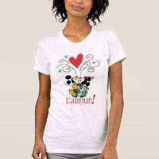 ¡Mickey y Minnie L amour Camiseta