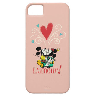 ¡Mickey y Minnie L'amour! Funda Para iPhone 5 Barely There