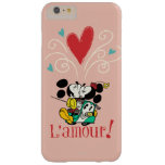 ¡Mickey y Minnie L'amour! Funda De iPhone 6 Plus Barely There
