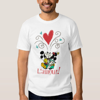 ¡Mickey y Minnie L'amour! Playera